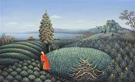 Andre Blaise 1981 Haitian Landscape Painting