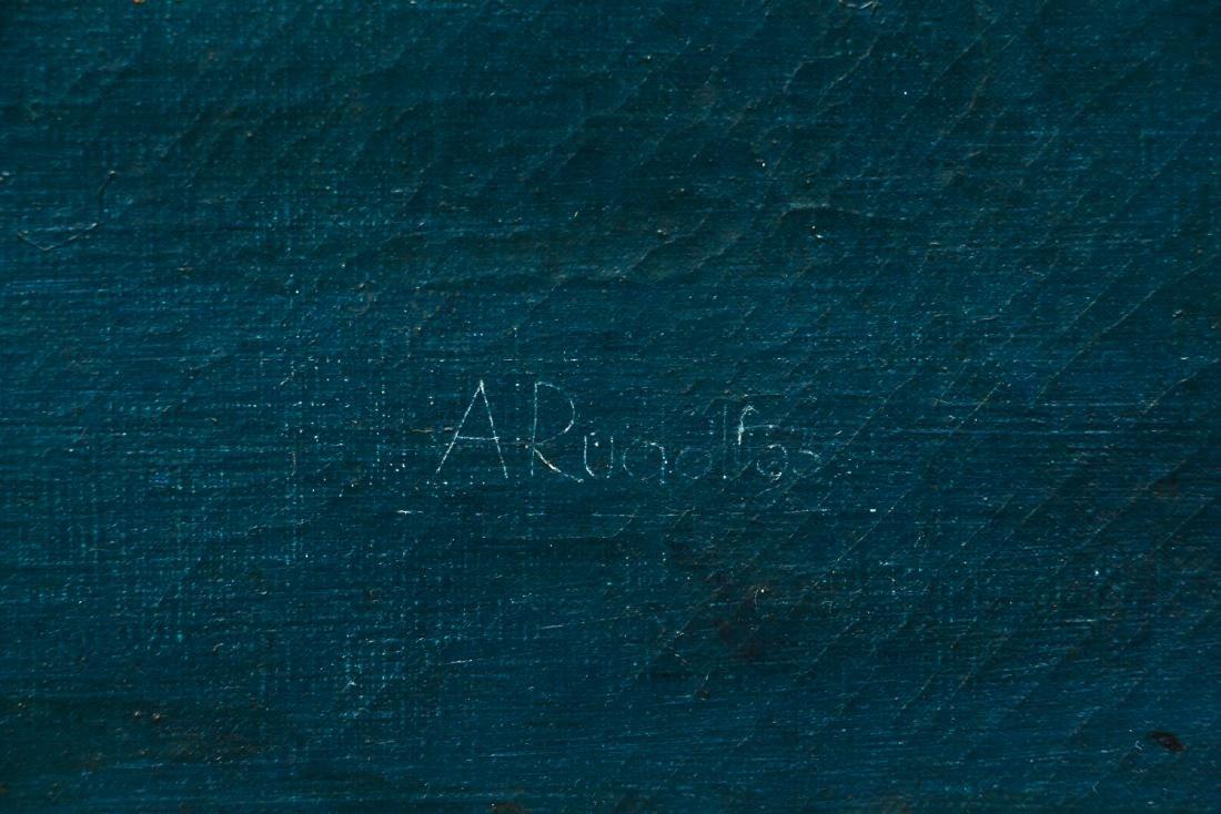 Arthur Rudolf 1953 oil Organic Cubist Forms - 3