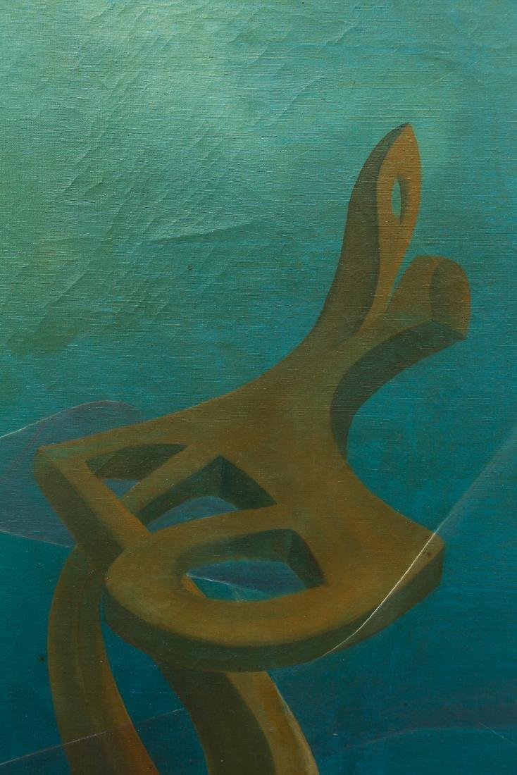 Arthur Rudolf 1953 oil Organic Cubist Forms - 4
