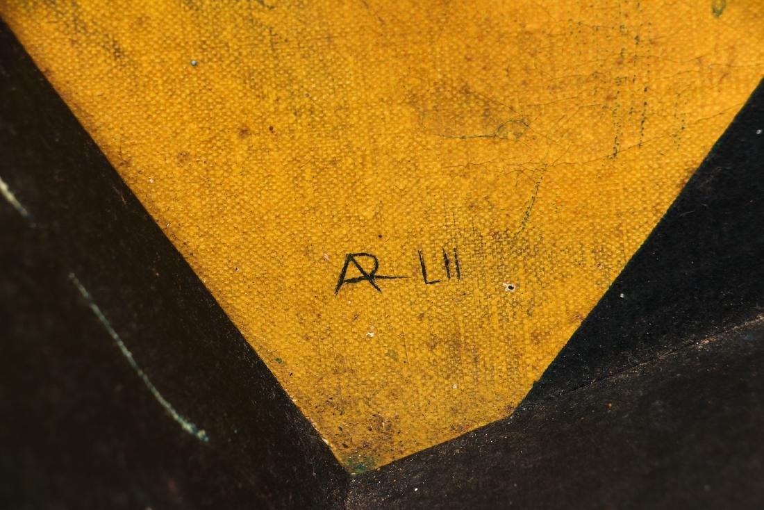 Arthur Rudolf 1952 oil Surrealist Checkerboard Vortex - 3