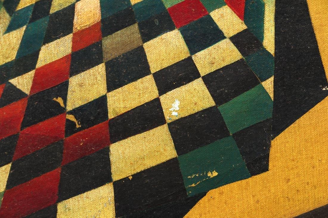 Arthur Rudolf 1952 oil Surrealist Checkerboard Vortex - 5