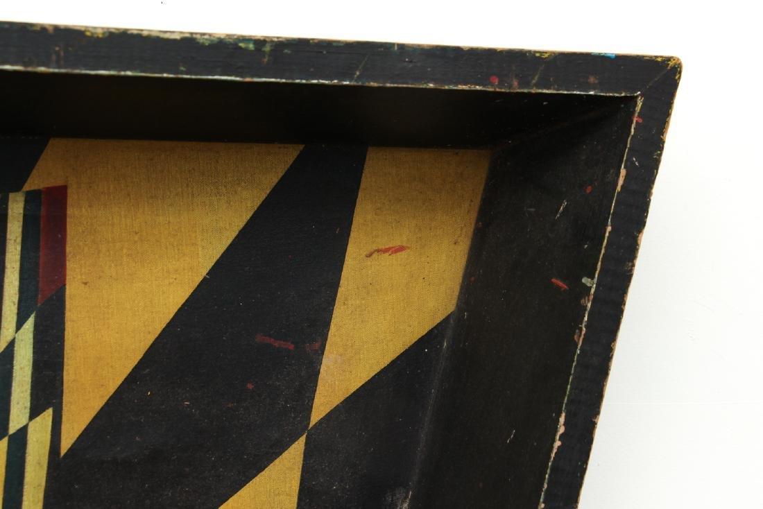 Arthur Rudolf 1952 oil Surrealist Checkerboard Vortex - 6