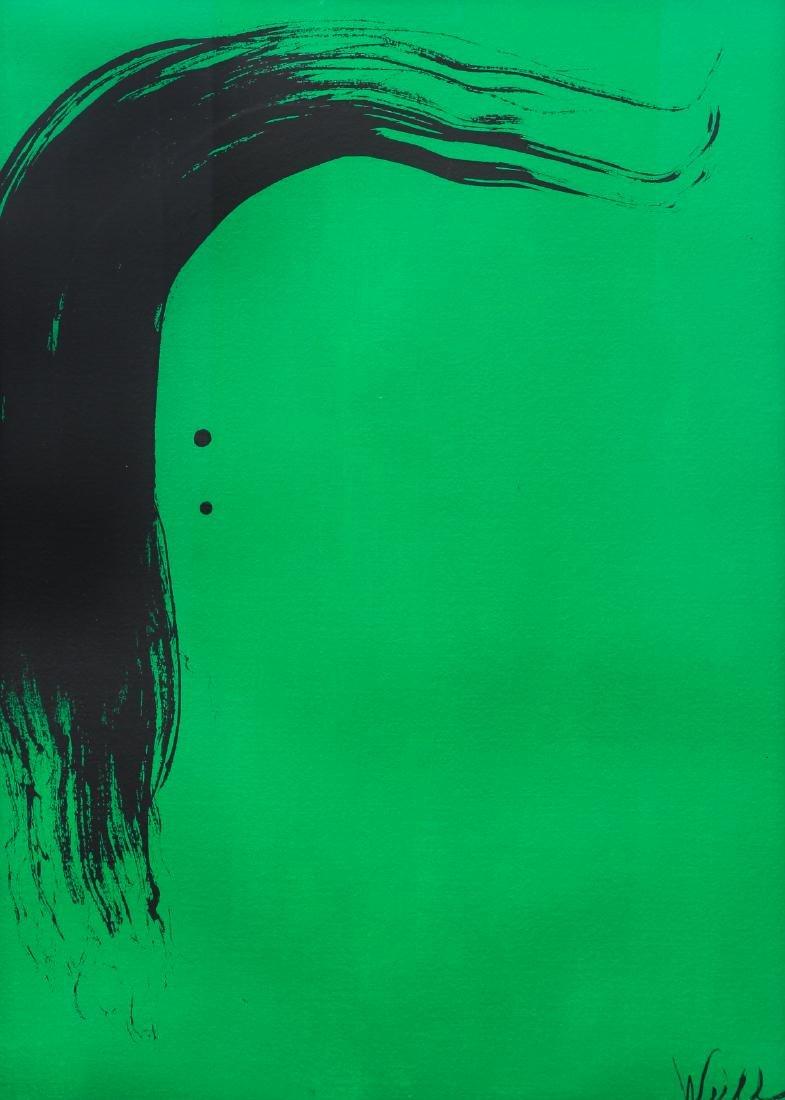 Milton Weiss Brush Stroke Abstract Art Work