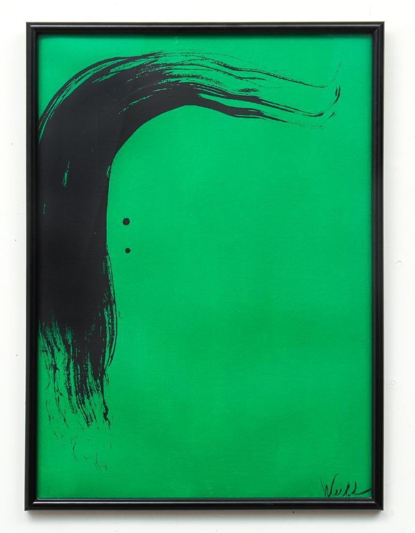 Milton Weiss Brush Stroke Abstract Art Work - 2