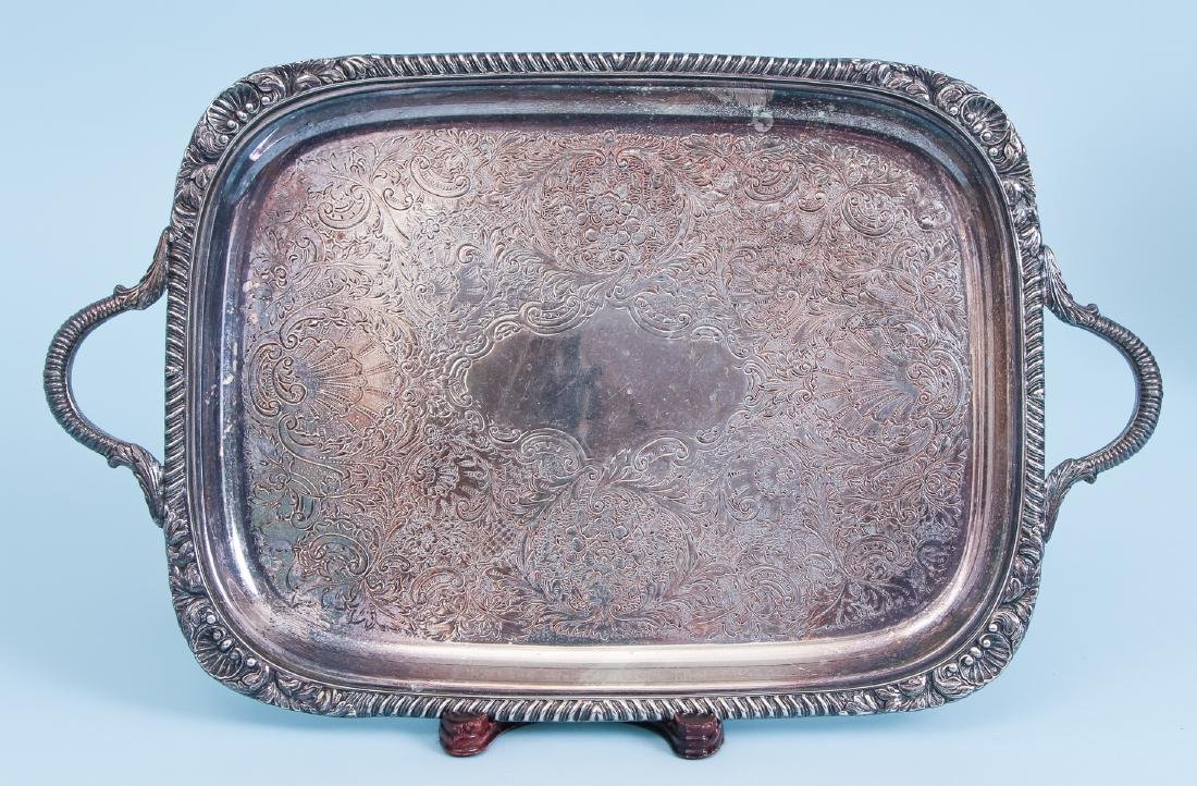 Three Rectangular Silverplate Serving Trays - 2