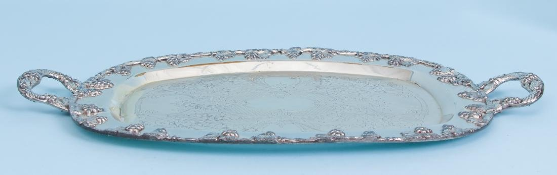 Three Rectangular Silverplate Serving Trays - 9