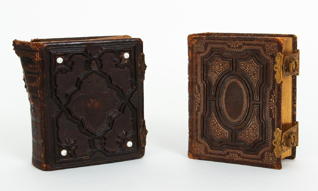 Two Victorian Book Form Photograph Albums