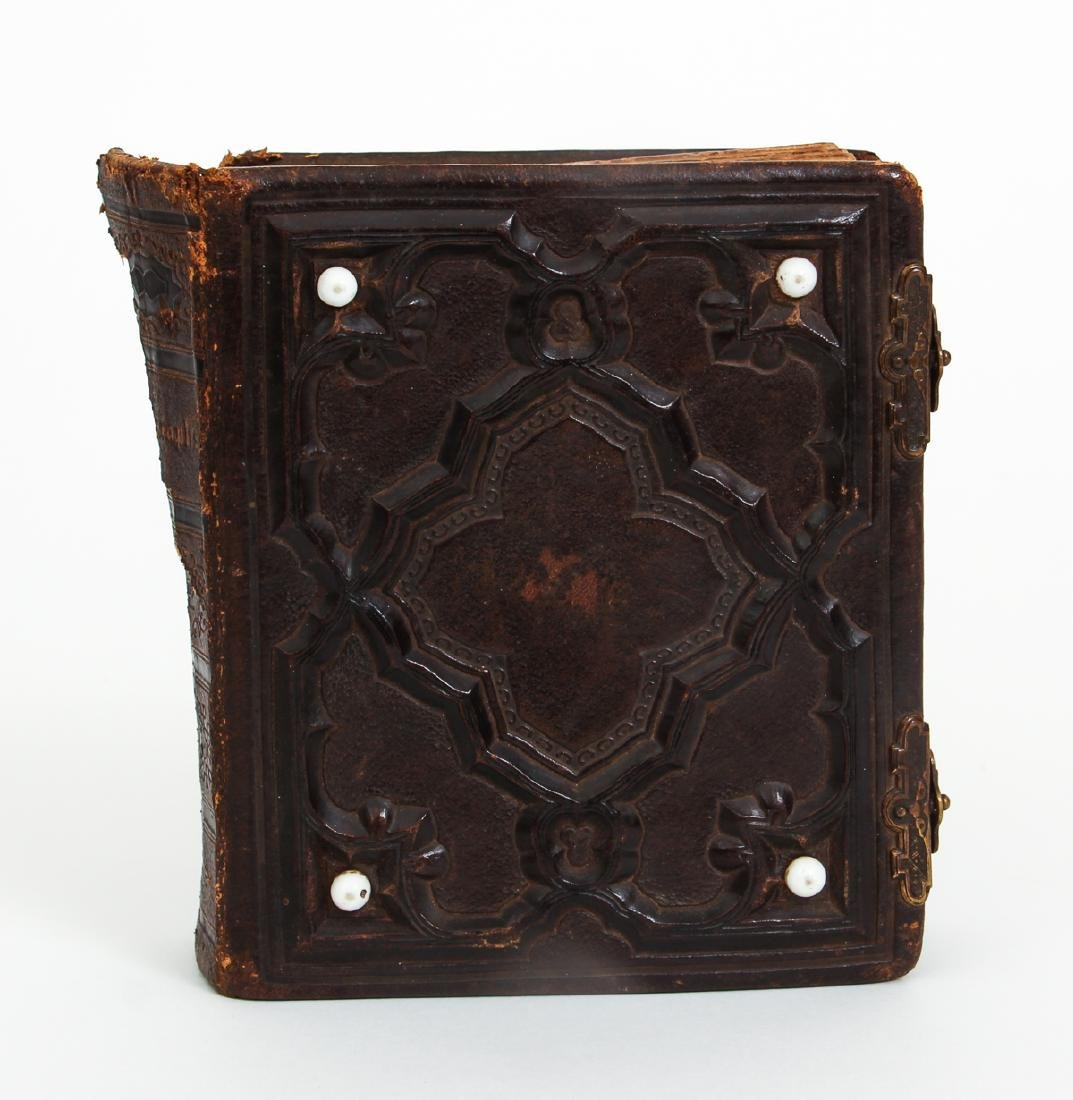Two Victorian Book Form Photograph Albums - 2