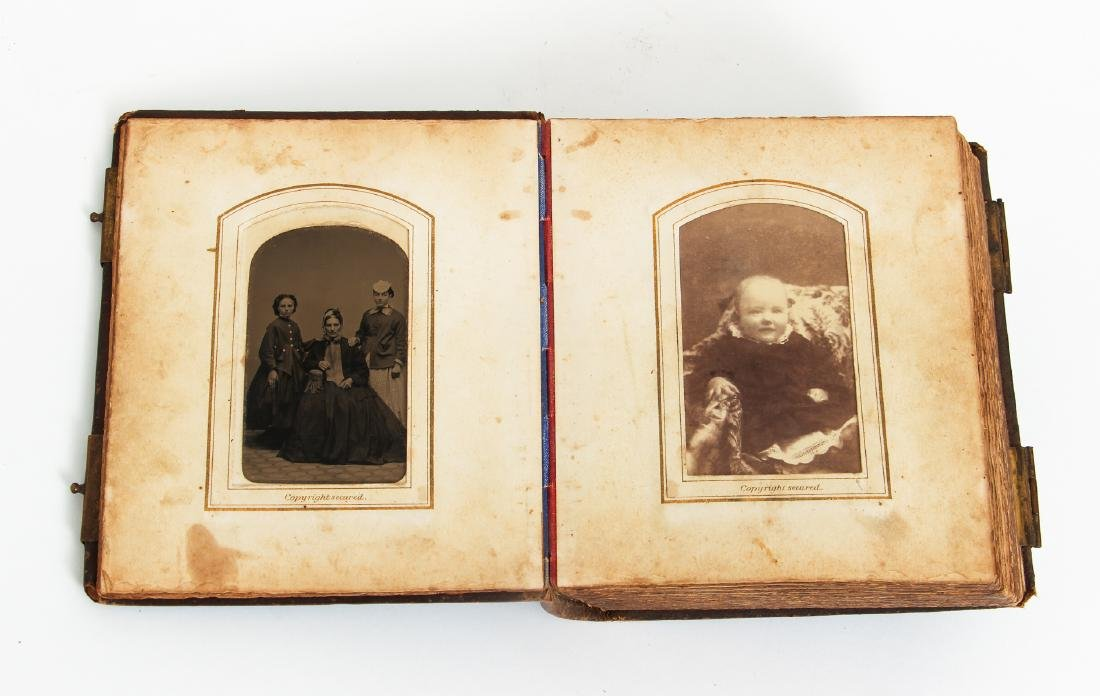 Two Victorian Book Form Photograph Albums - 6