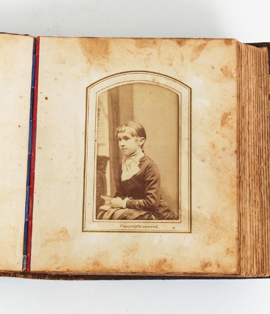 Two Victorian Book Form Photograph Albums - 8