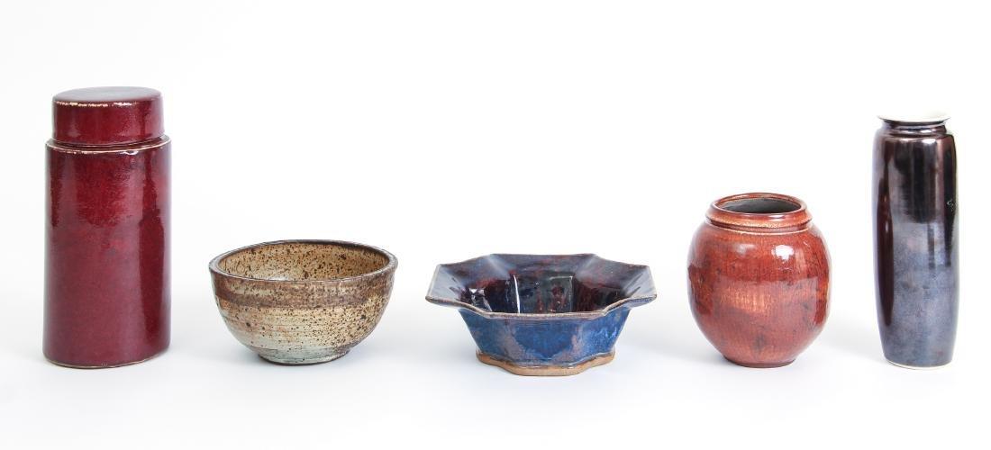 Five Pieces of Miscellaneous Studio Art Pottery