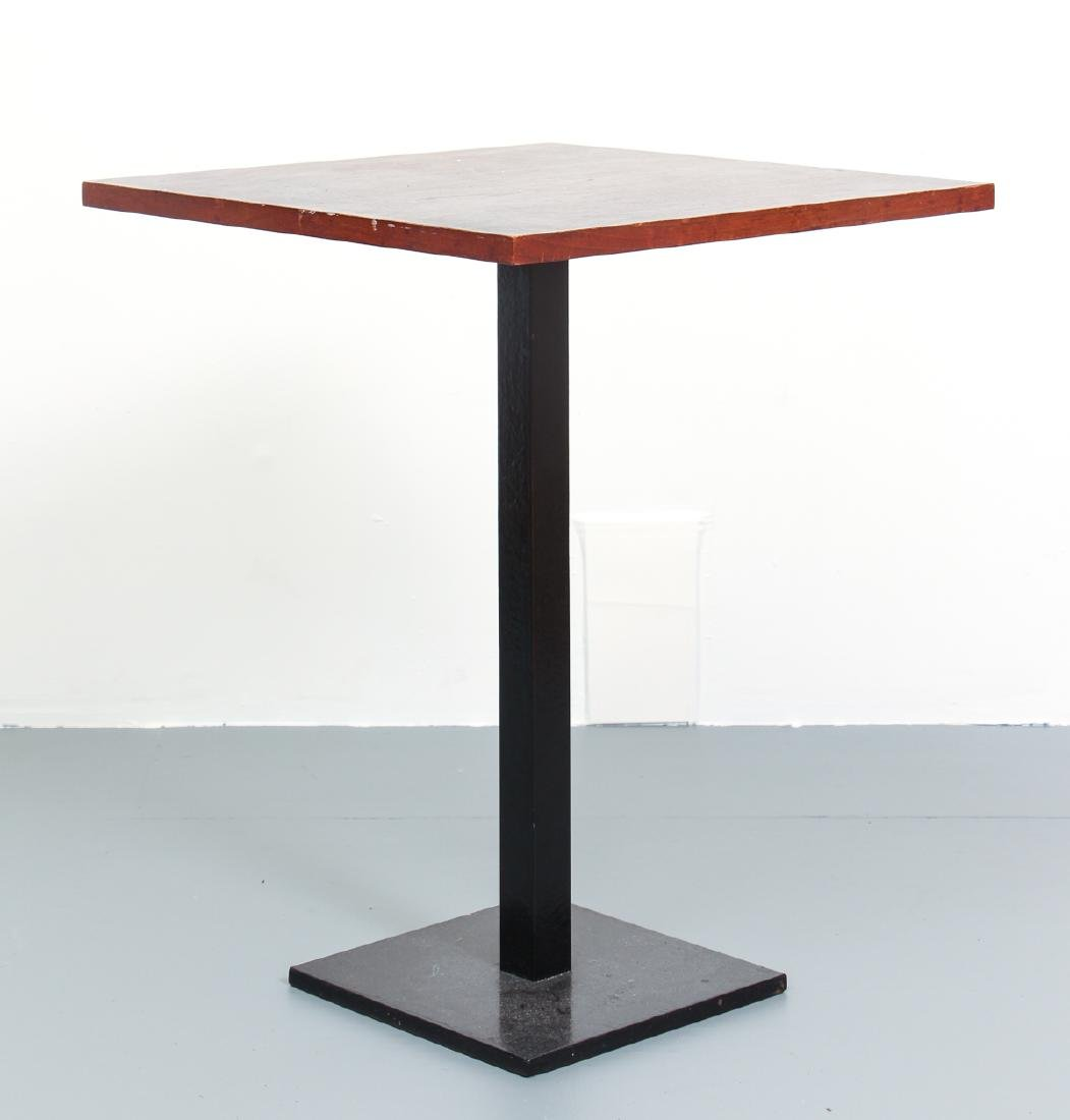 Mid Century Walnut and Iron End Table