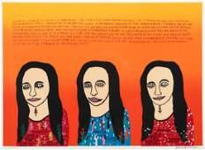 Howard Finster original serigraph Mona Lisa