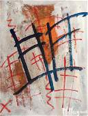 Maximilian Magnus acrylic painting Untitled Abstraction