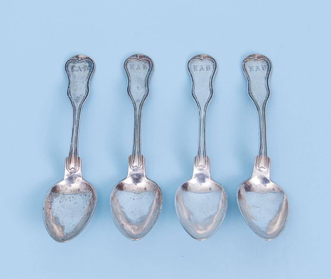 Four 19th Century Austro-Hungarian Silver Spoons