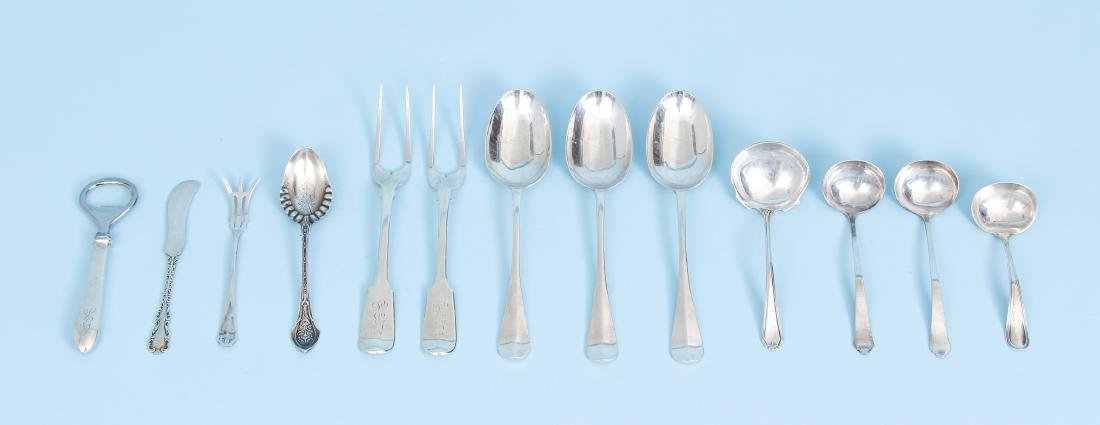Group of Miscellaneous Sterling Inc Georgian Meat Forks