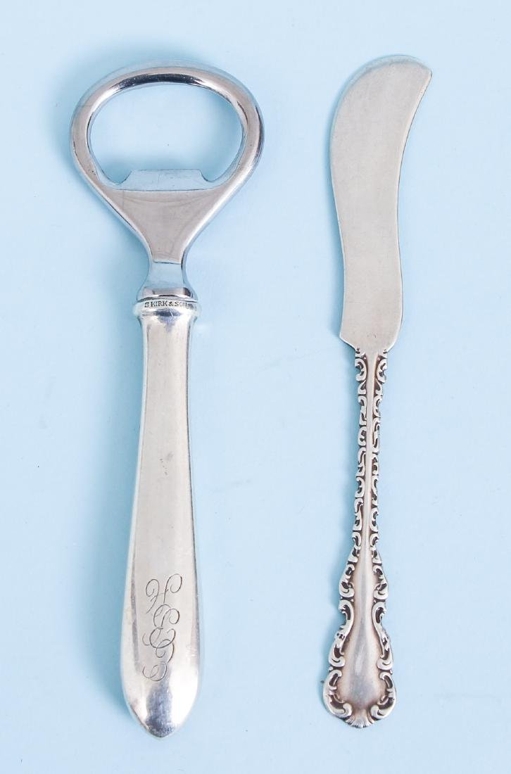 Group of Miscellaneous Sterling Inc Georgian Meat Forks - 2