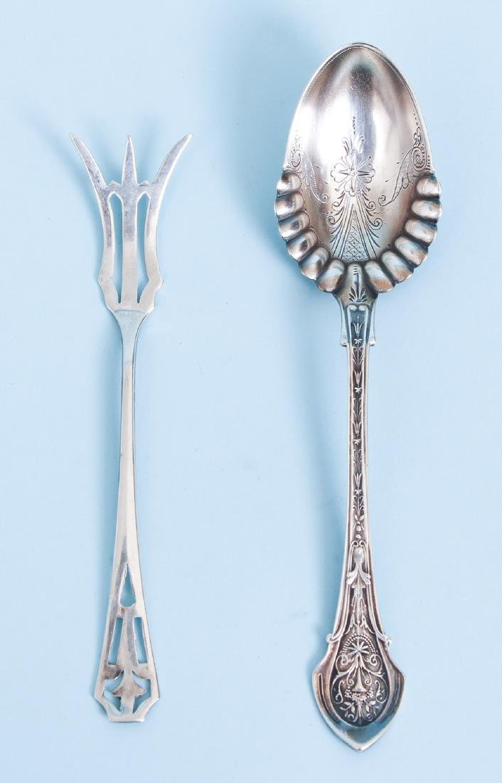 Group of Miscellaneous Sterling Inc Georgian Meat Forks - 4