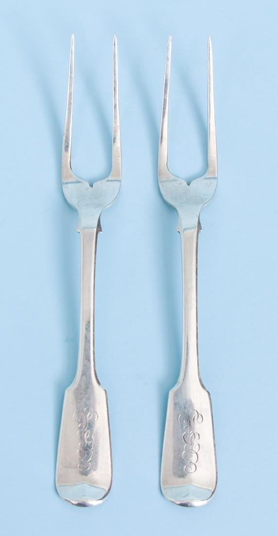 Group of Miscellaneous Sterling Inc Georgian Meat Forks - 5