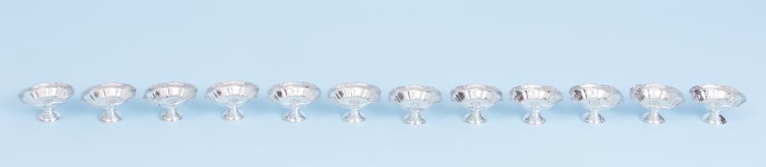 Twelve Webster Company Sterling Silver Salts