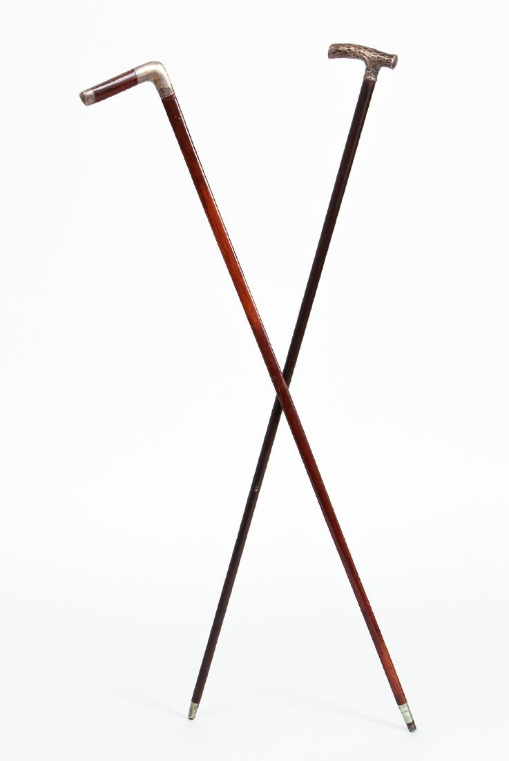 Two Sterling Accented Canes