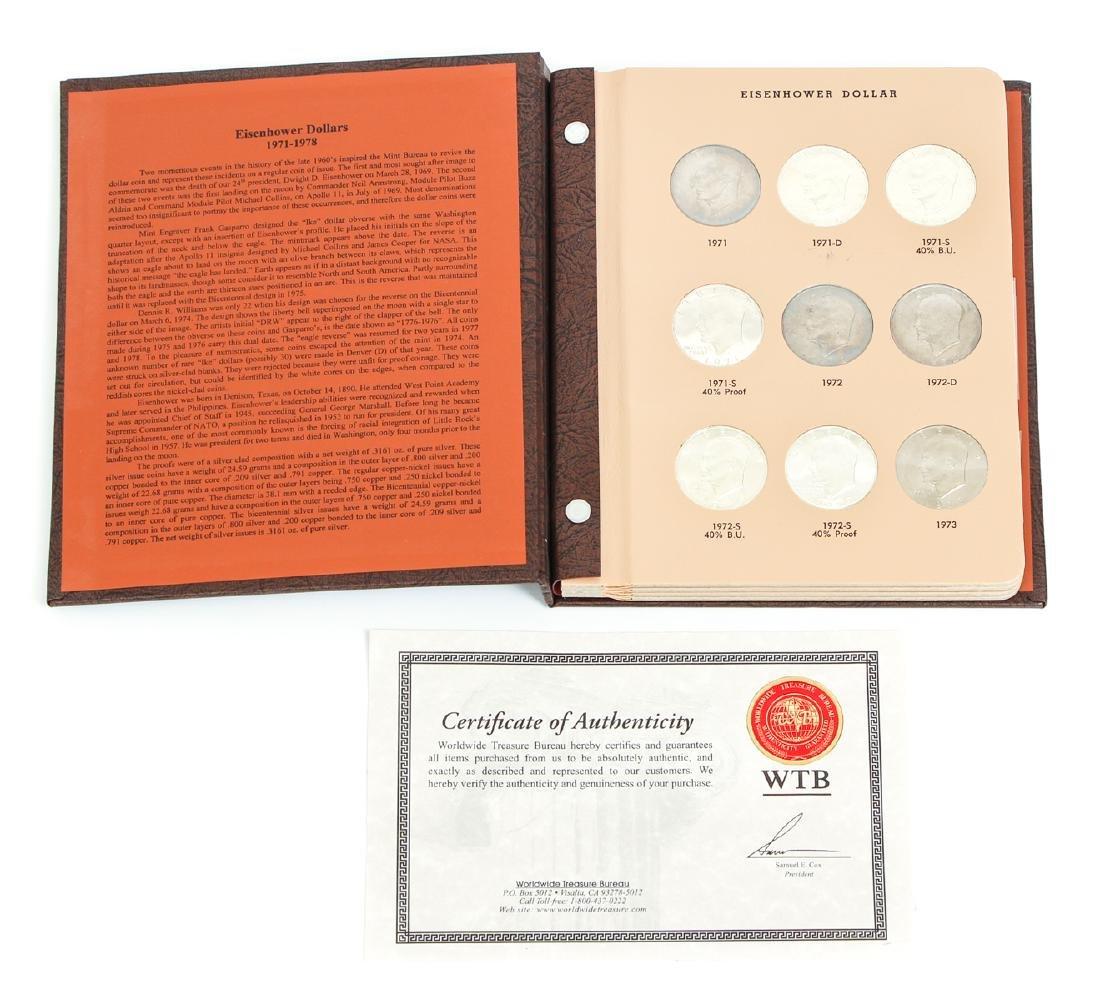 Four Sets of Eisenhower Dollars - 10