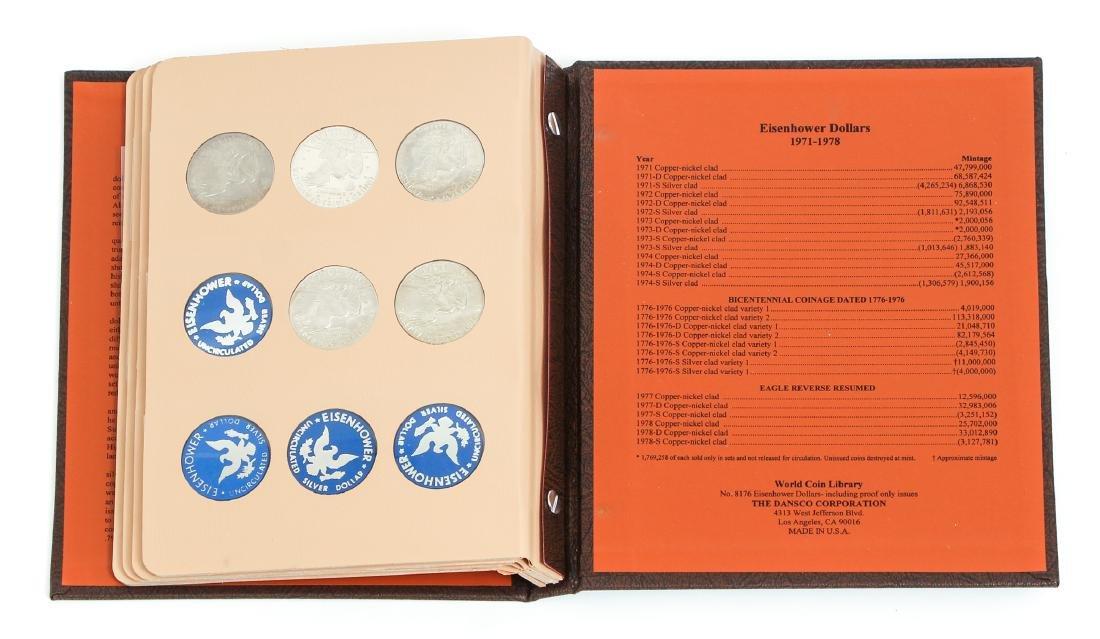 Four Sets of Eisenhower Dollars - 8