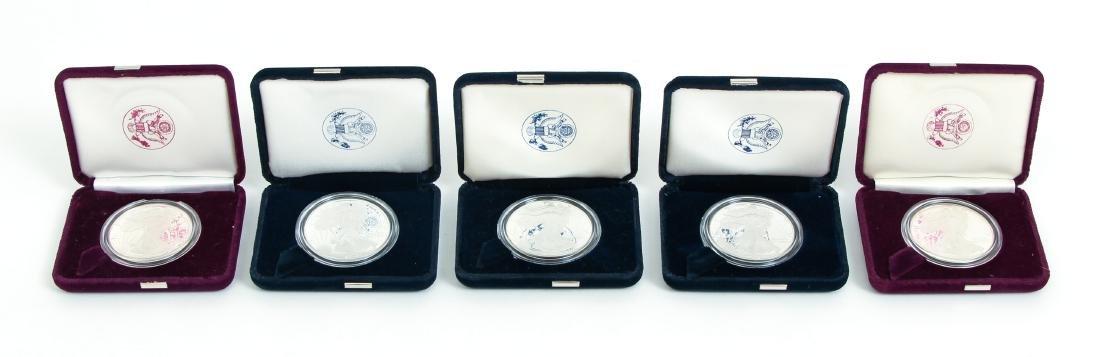 Five American Eagle Silver Dollars