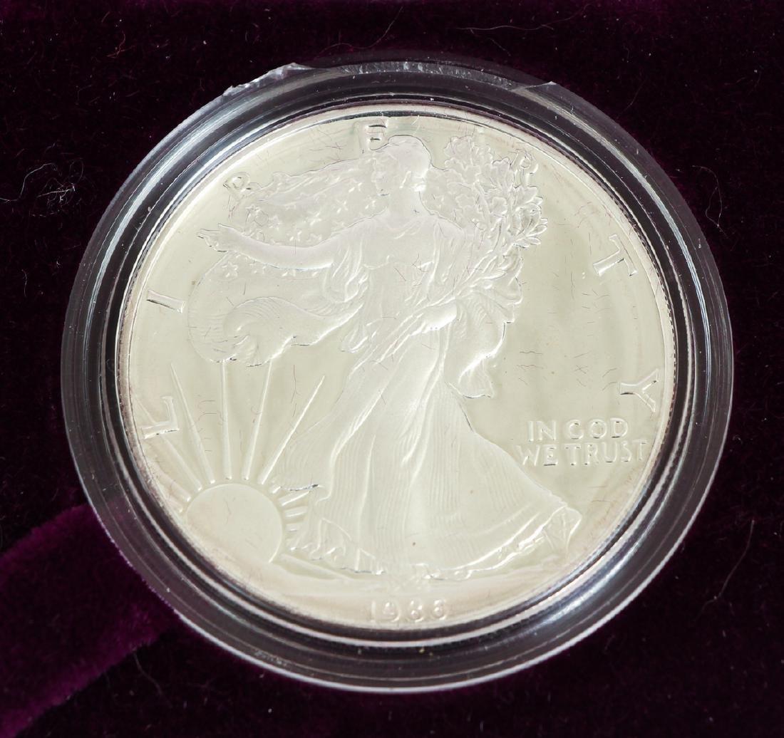 Five American Eagle Silver Dollars - 3