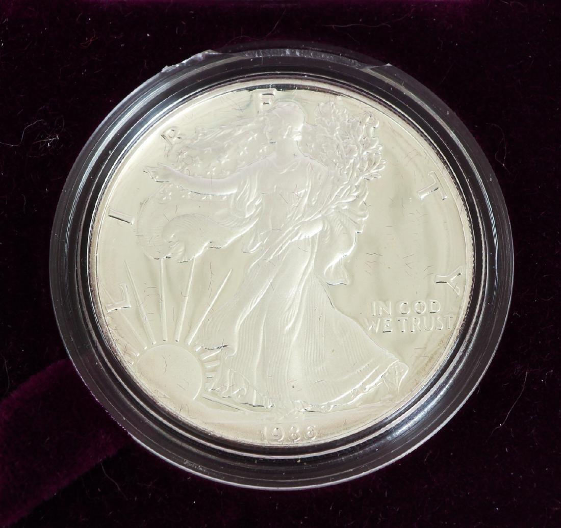 Five American Eagle Silver Dollars - 4