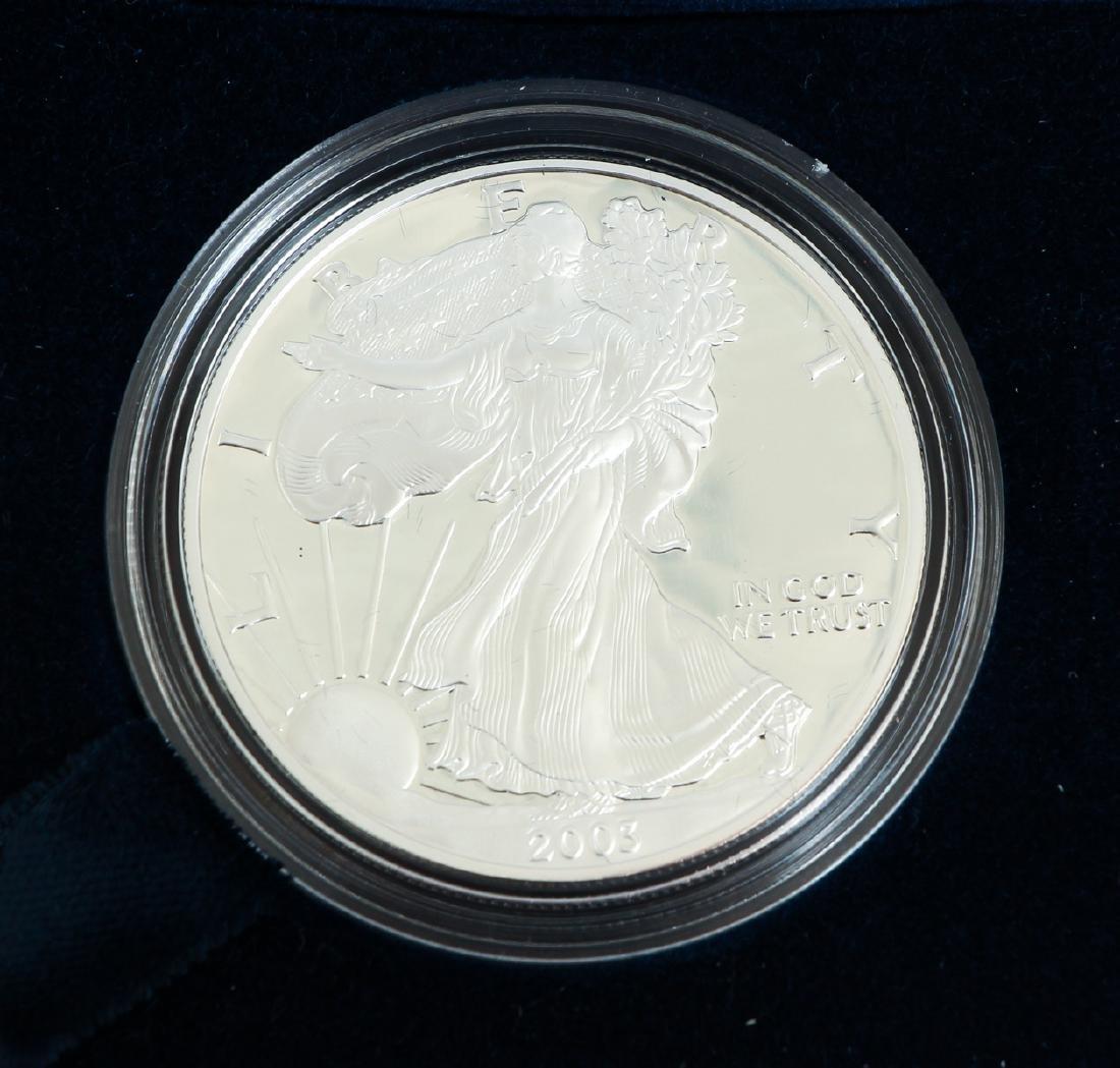 Five American Eagle Silver Dollars - 5