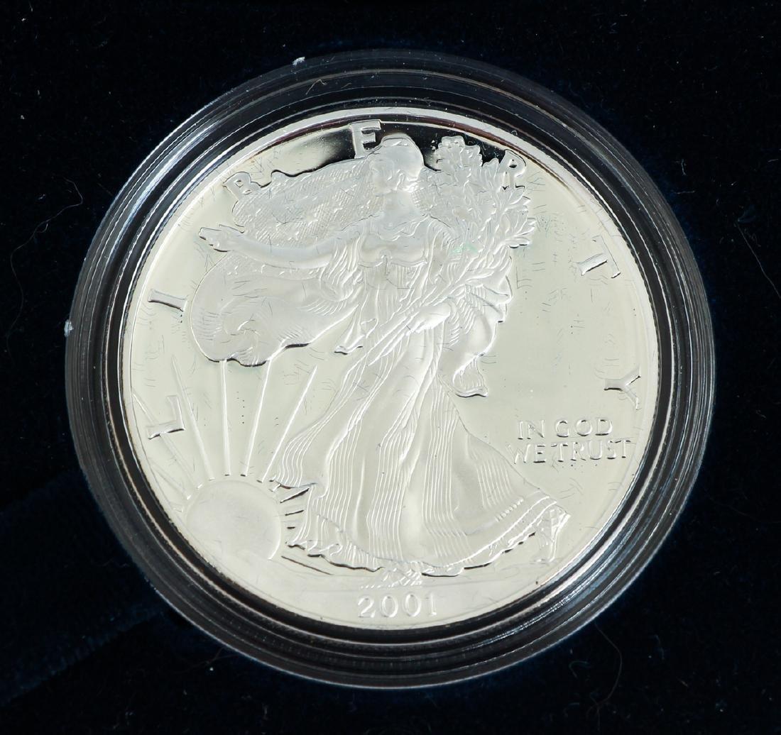 Five American Eagle Silver Dollars - 6