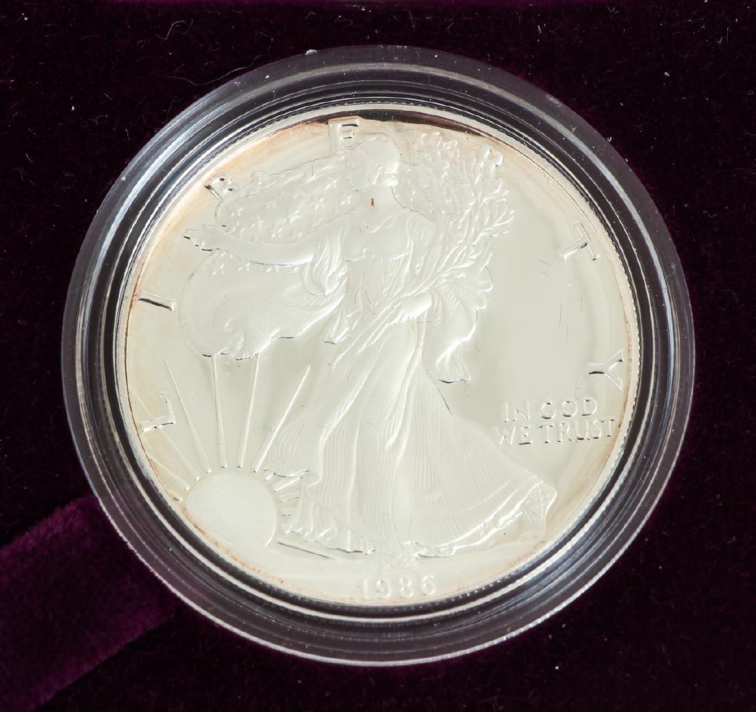 Five American Eagle Silver Dollars - 8