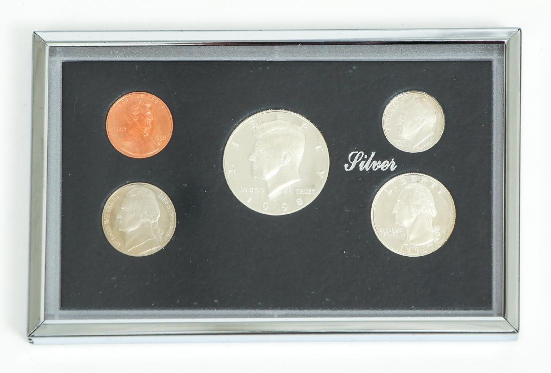 Seven US Mint Silver Proof Sets - 9