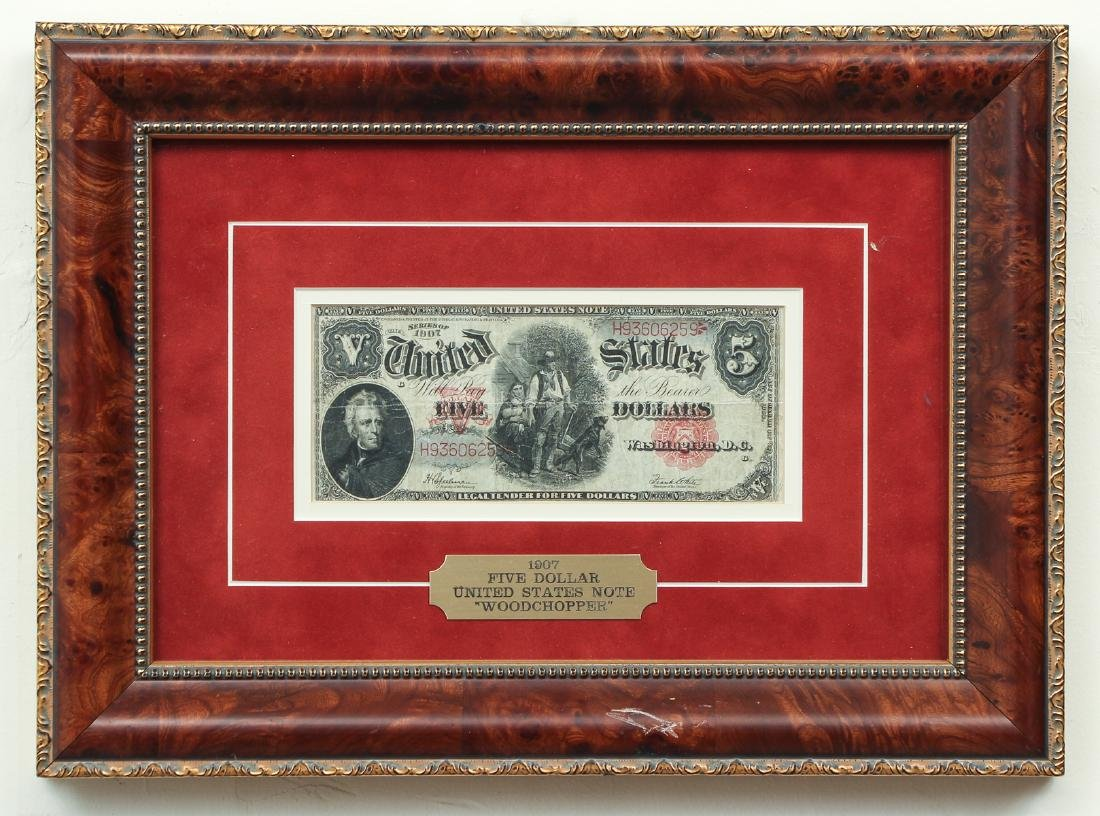 1907 United States Five Dollar Woodchopper Note