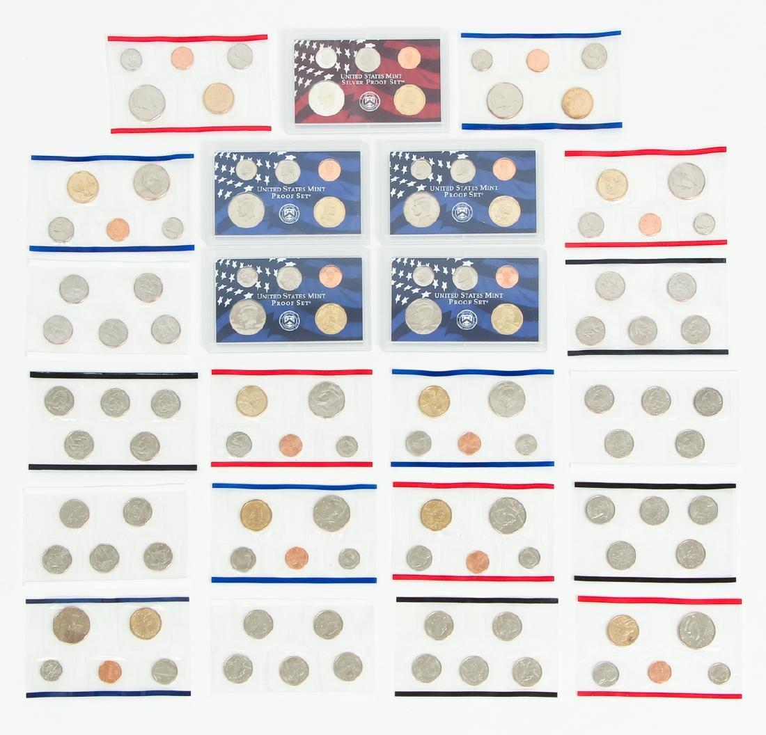 Large Group of 2000s US Mint Proof Sets Etc