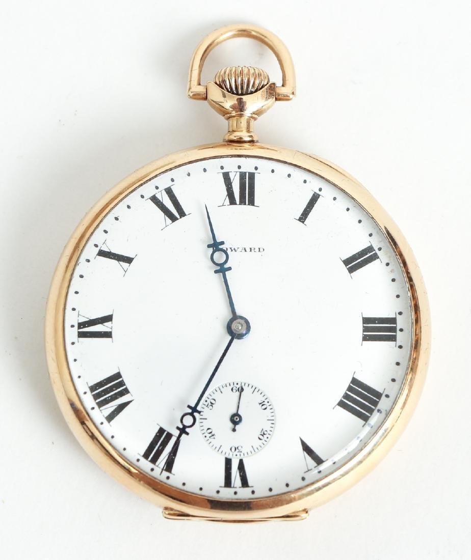 Howard 14 K Gold Pocket Watch - 2