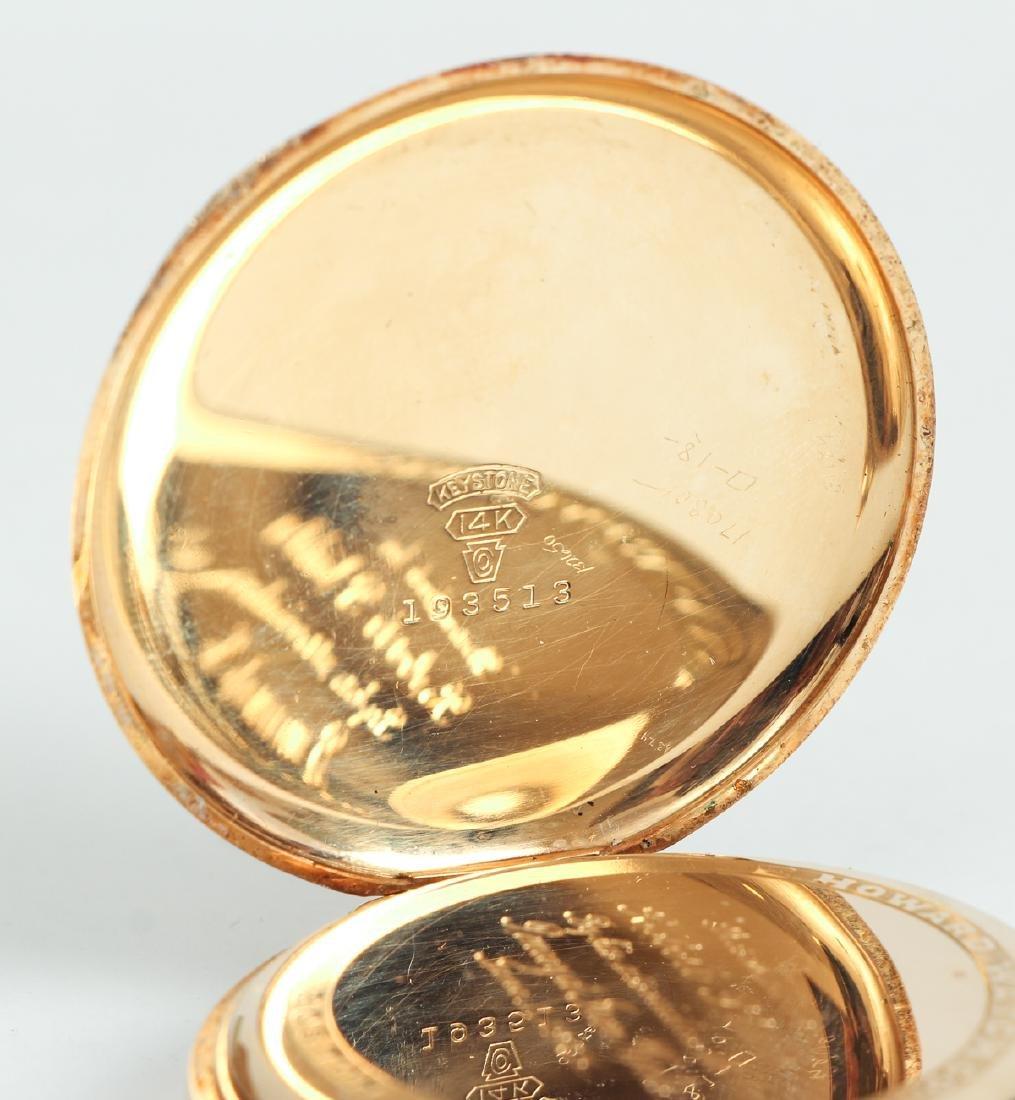Howard 14 K Gold Pocket Watch - 5
