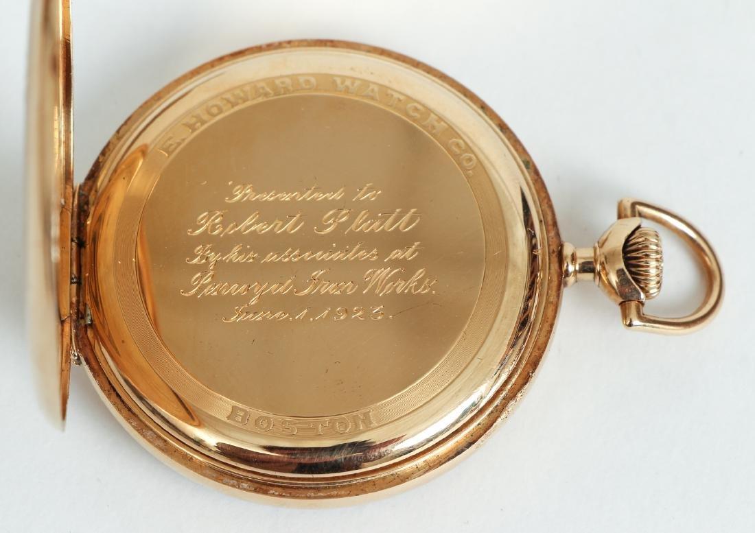 Howard 14 K Gold Pocket Watch - 6