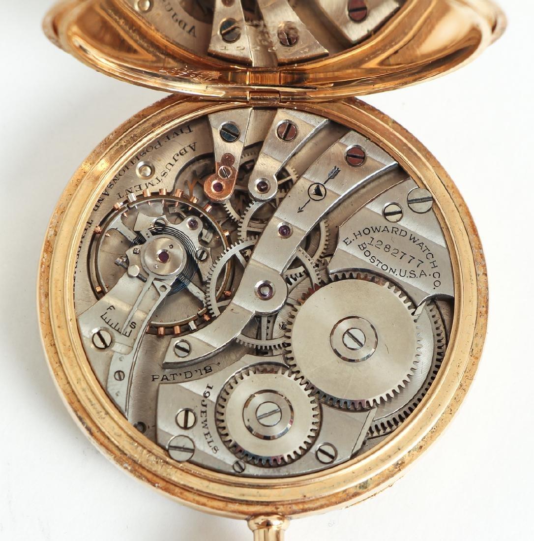 Howard 14 K Gold Pocket Watch - 8