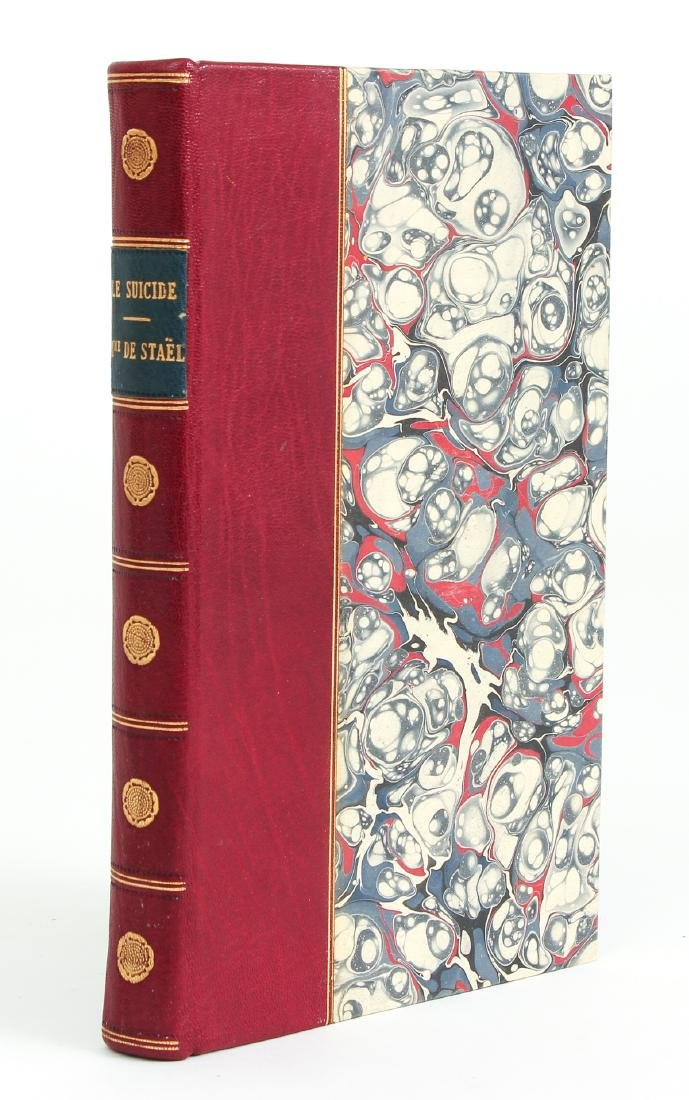 Mme. De Stael on Suicide and Rousseau, leather binding