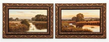 2 David Morgan framed Traditional Landscape Paintings