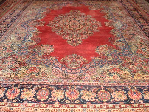 14: Old Persian Mahal rug