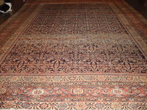 16: Antique Persian Mahal rug