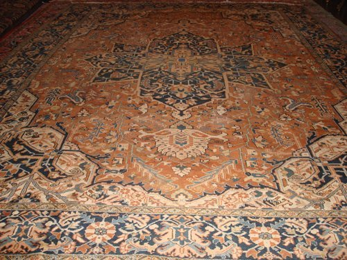 18: Old Persian Heriz carpet