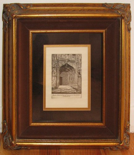 21: John Taylor Arms Etching, From Spanish Church Serie