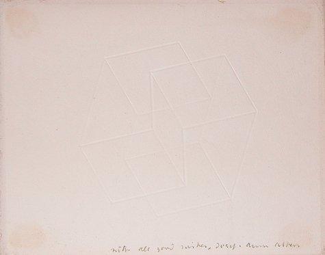 509: Josef & Anni Albers Intaglio paper print