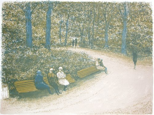 513: Harold Altman Lithograph Park Benches