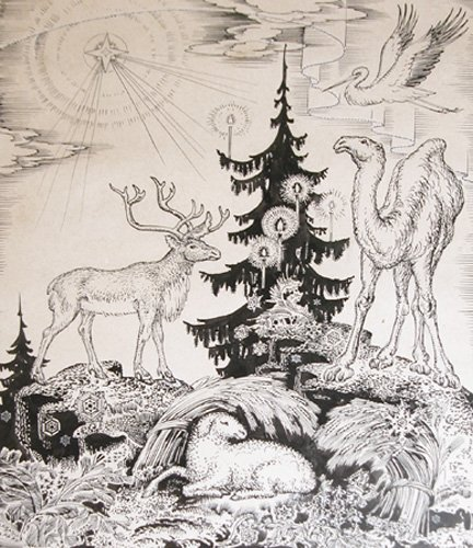 517: Andrey Avinoff Drawing and Lithograph