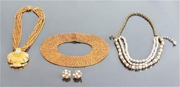 Three Vintage Costume Jewelry Necklaces